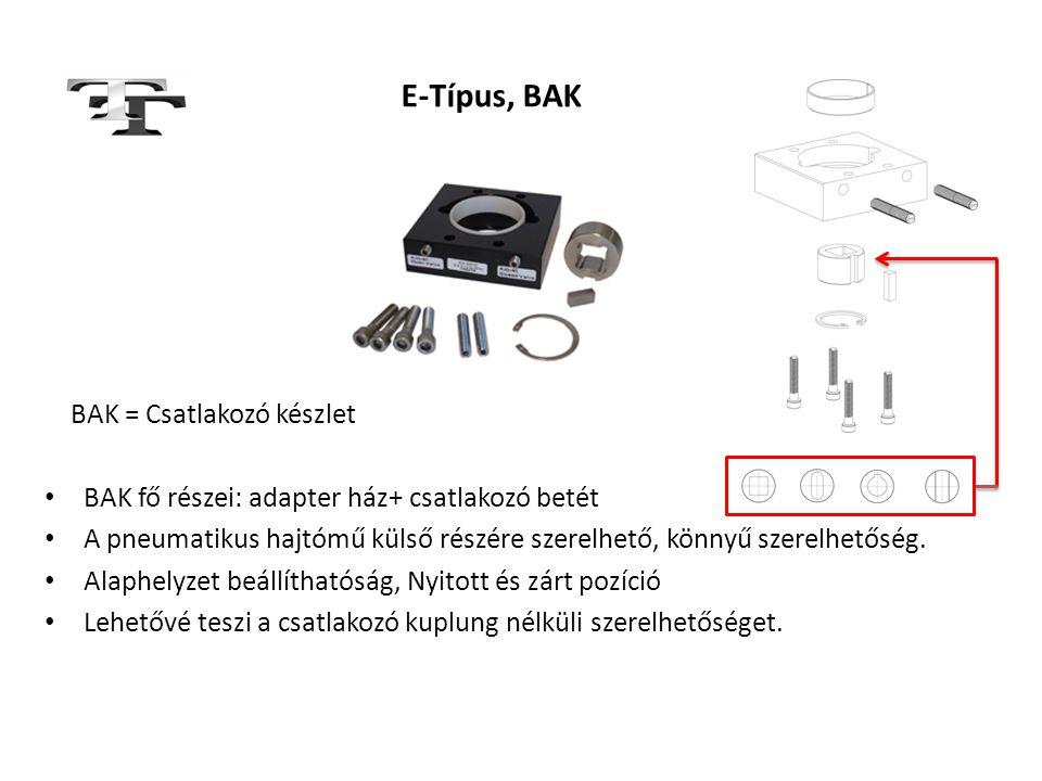 E-Típus, BAK BAK = Csatlakozó készlet