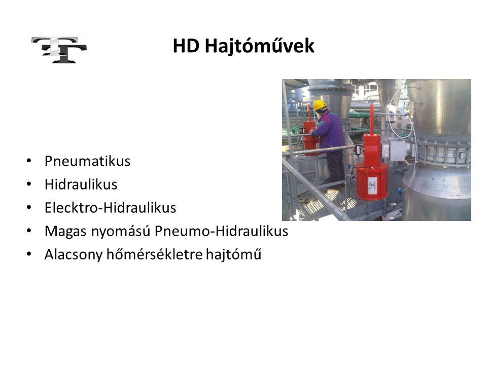 HD Hajtóművek Pneumatikus Hidraulikus Elecktro-Hidraulikus