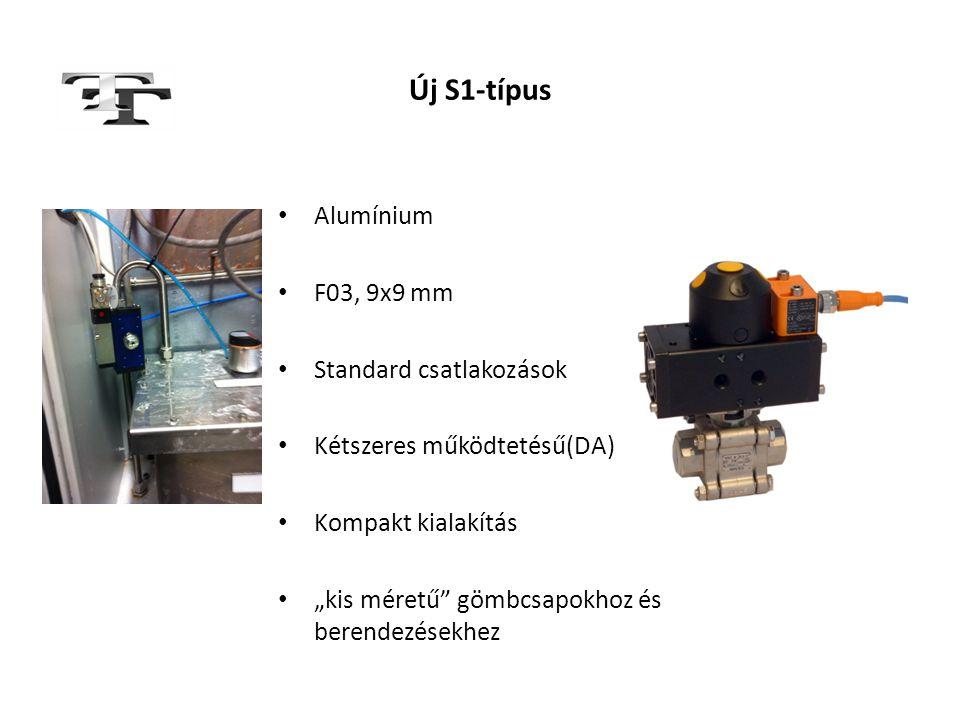 Új S1-típus Alumínium F03, 9x9 mm Standard csatlakozások