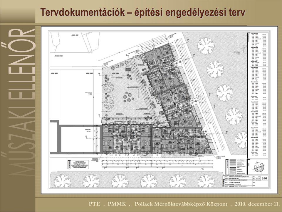 Tervdokumentációk – építési engedélyezési terv
