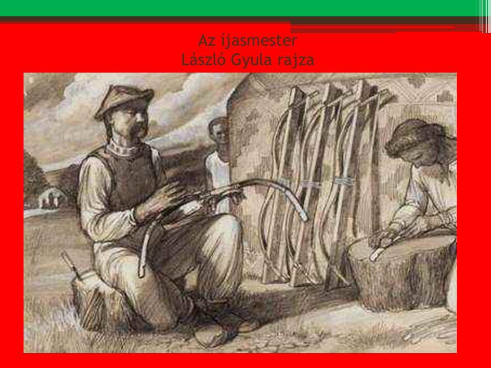 Az íjasmester László Gyula rajza