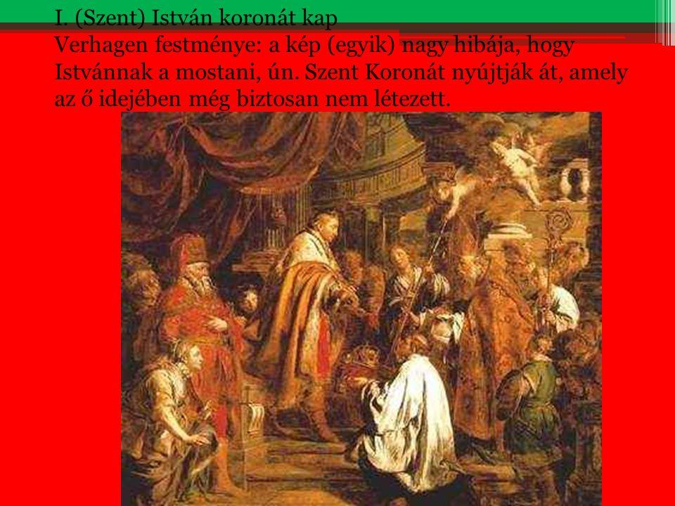 I. (Szent) István koronát kap