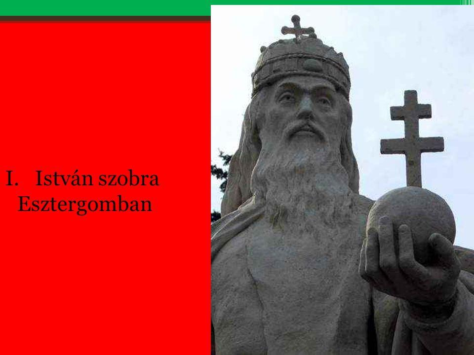 István szobra Esztergomban