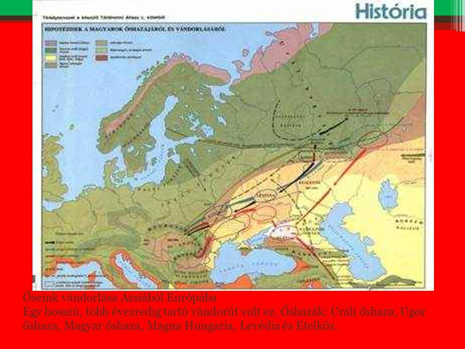 Őseink vándorlása Ázsiából Európába