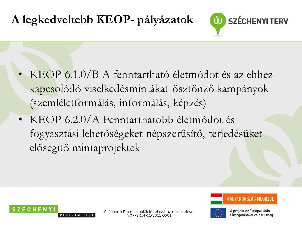 A legkedveltebb KEOP- pályázatok