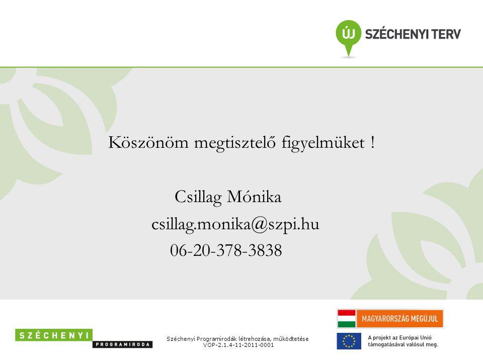 Csillag Mónika csillag.monika@szpi.hu 06-20-378-3838