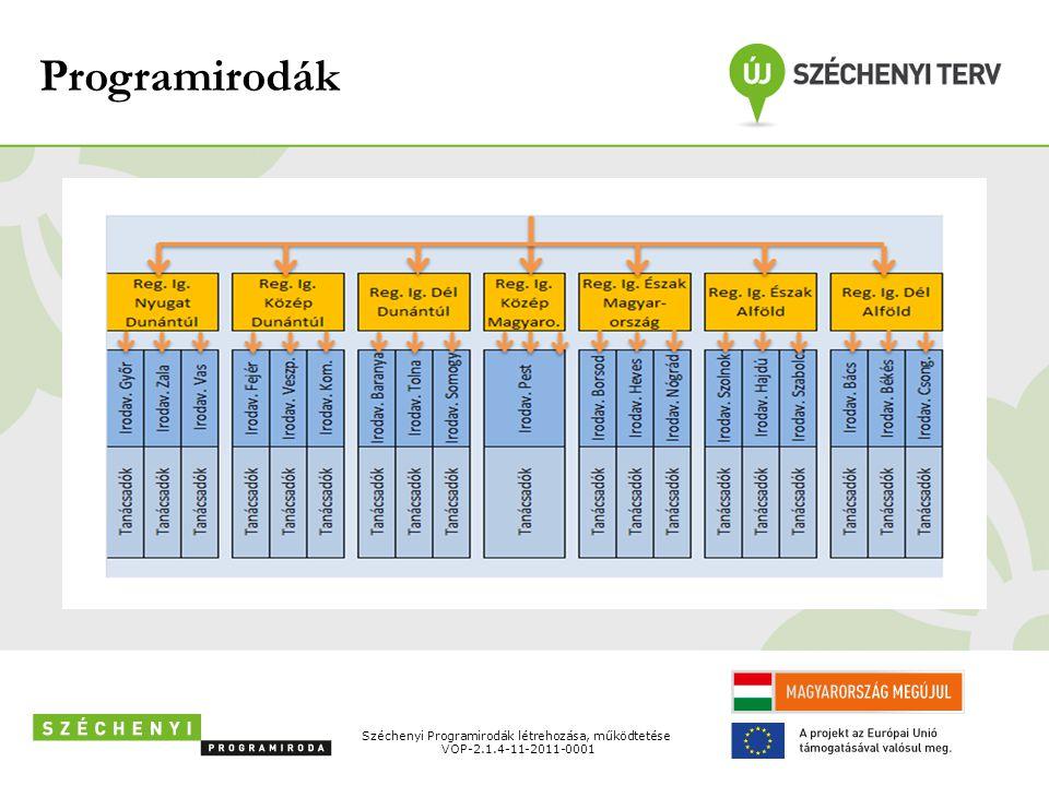 Programirodák Széchenyi Programirodák létrehozása, működtetése