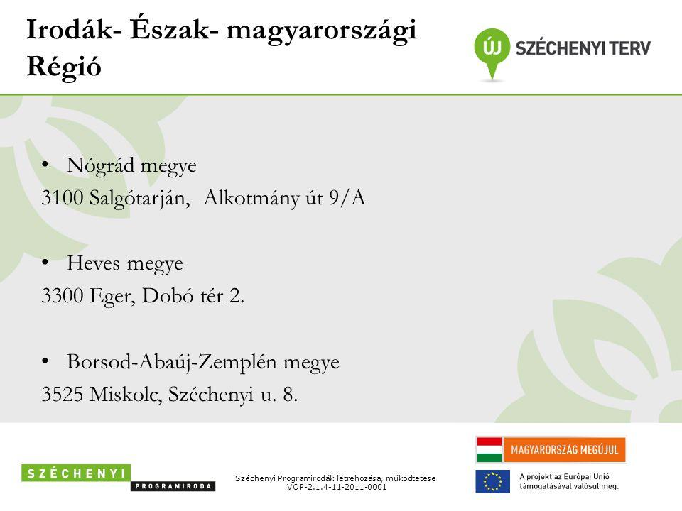 Irodák- Észak- magyarországi Régió