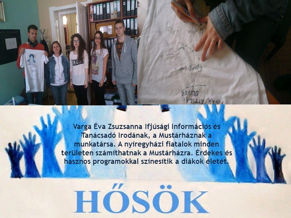 Varga Éva Zsuzsanna Ifjúsági Információs és Tanácsadó Irodának, a Mustárháznak a munkatársa.