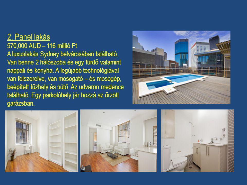 2. Panel lakás 570,000 AUD – 116 millió Ft