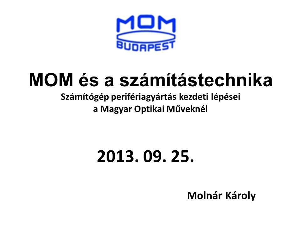 MOM és a számítástechnika