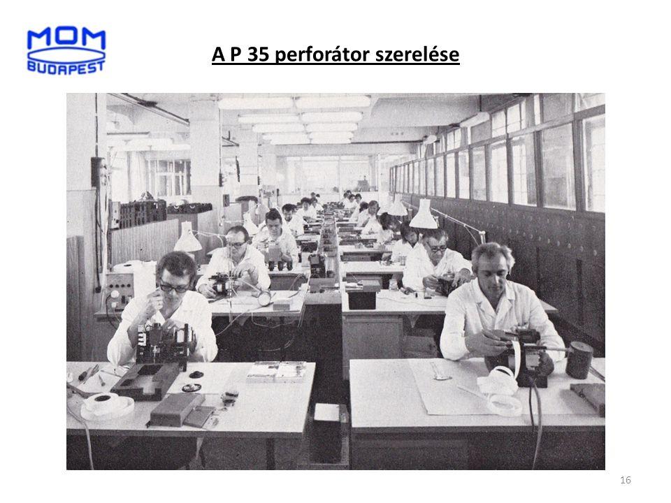 A P 35 perforátor szerelése