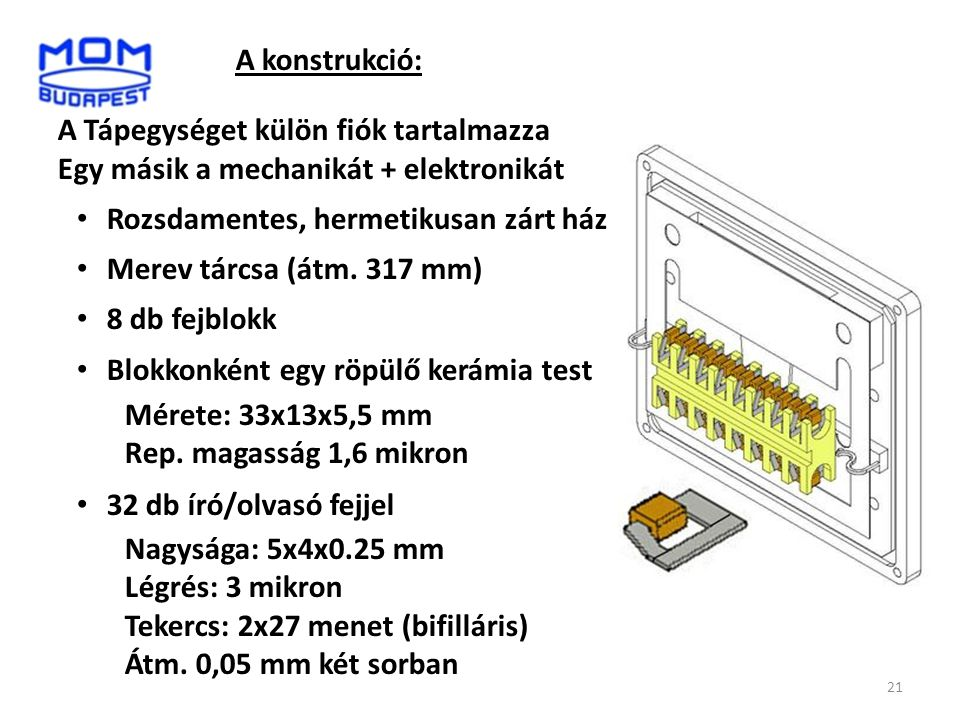 A konstrukció: A Tápegységet külön fiók tartalmazza. Egy másik a mechanikát + elektronikát. Rozsdamentes, hermetikusan zárt ház.