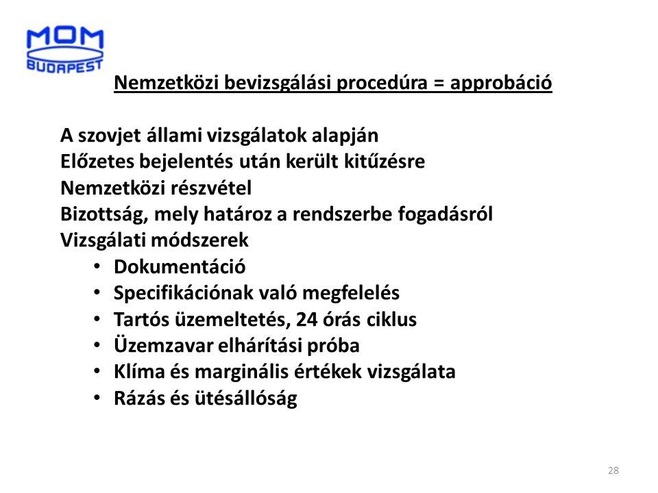 Nemzetközi bevizsgálási procedúra = approbáció