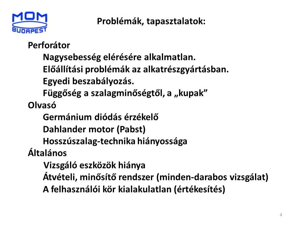 Problémák, tapasztalatok: