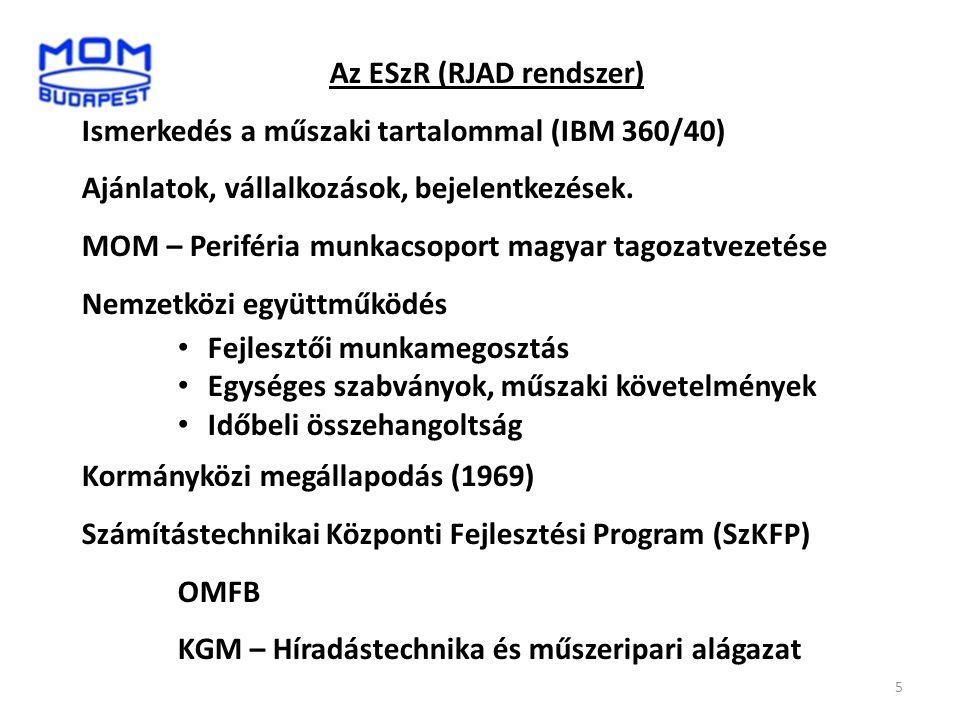 Az ESzR (RJAD rendszer)