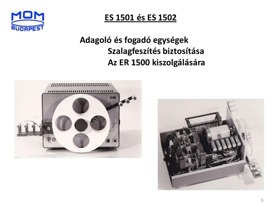 ES 1501 és ES 1502 Adagoló és fogadó egységek Szalagfeszítés biztosítása Az ER 1500 kiszolgálására