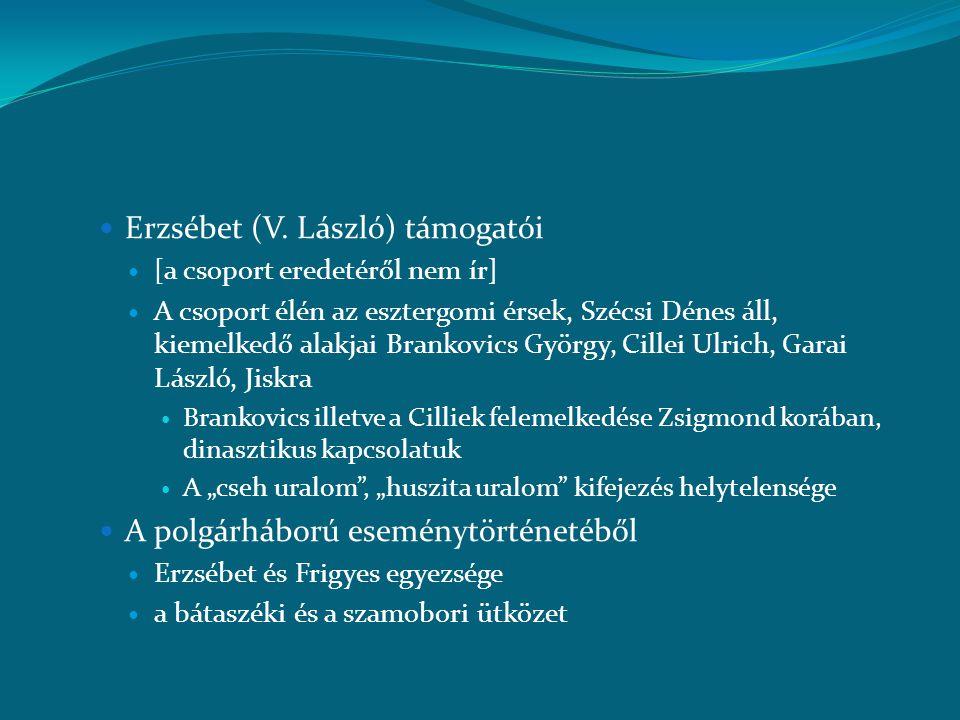 Erzsébet (V. László) támogatói