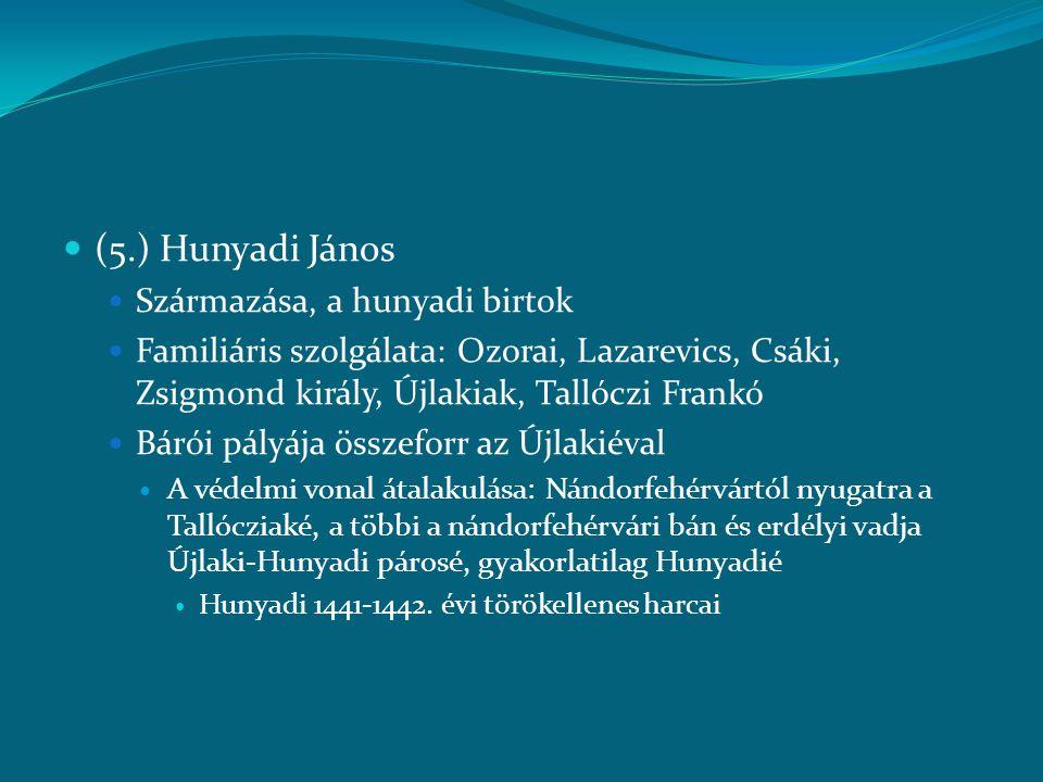 (5.) Hunyadi János Származása, a hunyadi birtok