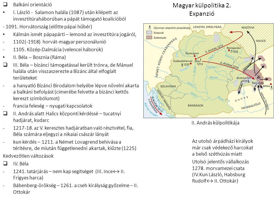 Magyar külpolitika 2. Expanzió