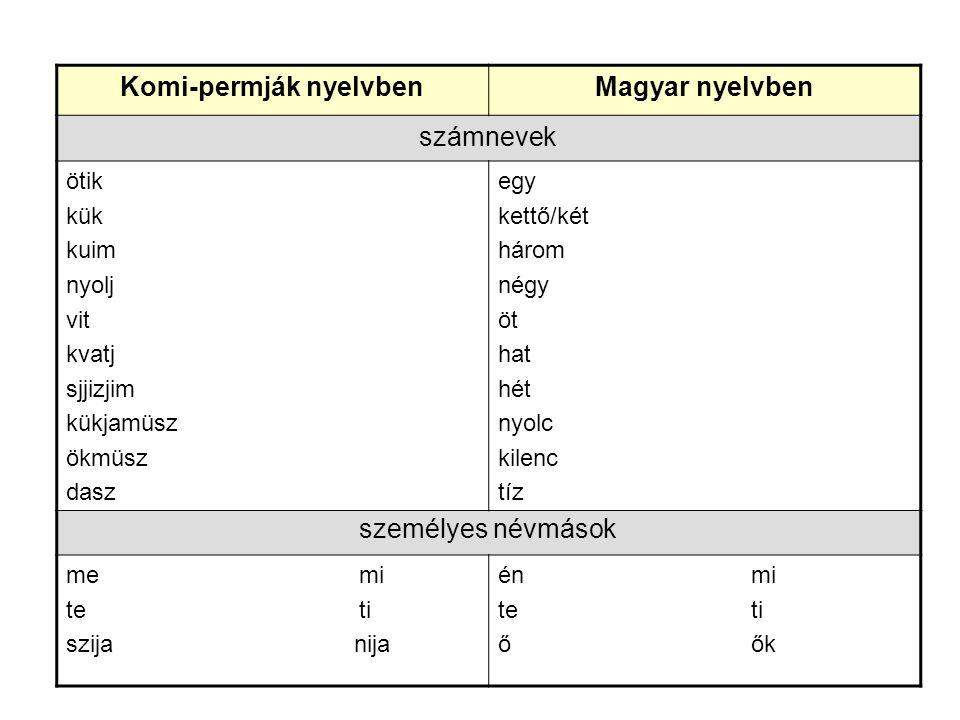 Komi-permják nyelvben