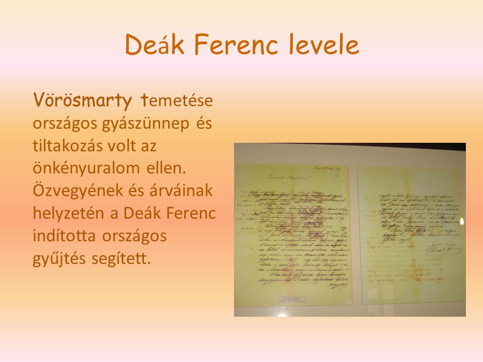 Deák Ferenc levele