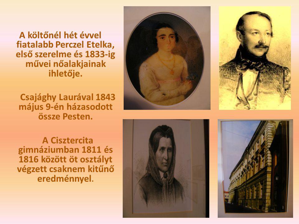 Csajághy Laurával 1843 május 9-én házasodott össze Pesten.