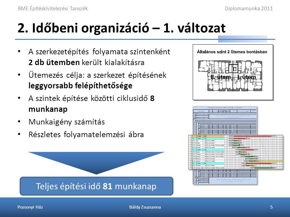 2. Időbeni organizáció – 2. változat