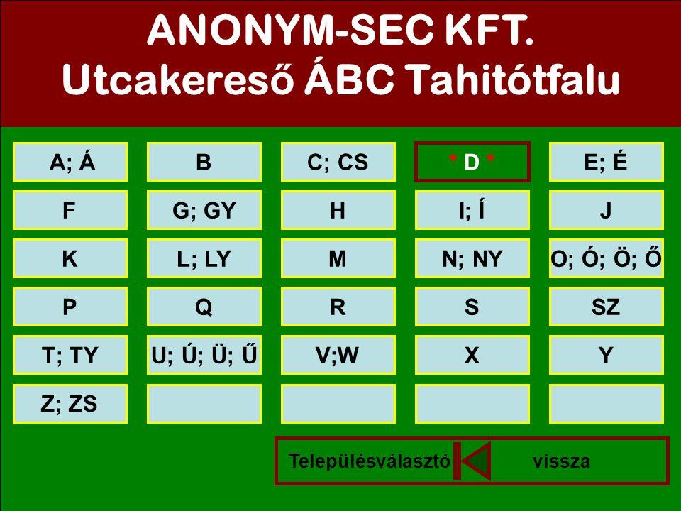 Utcakereső ÁBC Tahitótfalu