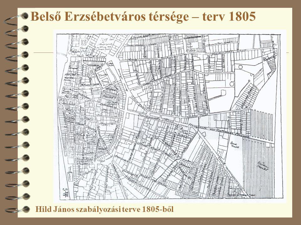 Belső Erzsébetváros térsége – terv 1805