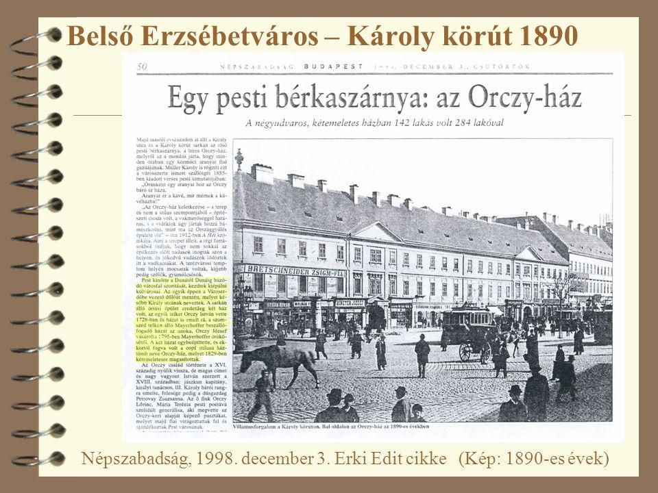 Belső Erzsébetváros – Károly körút 1890