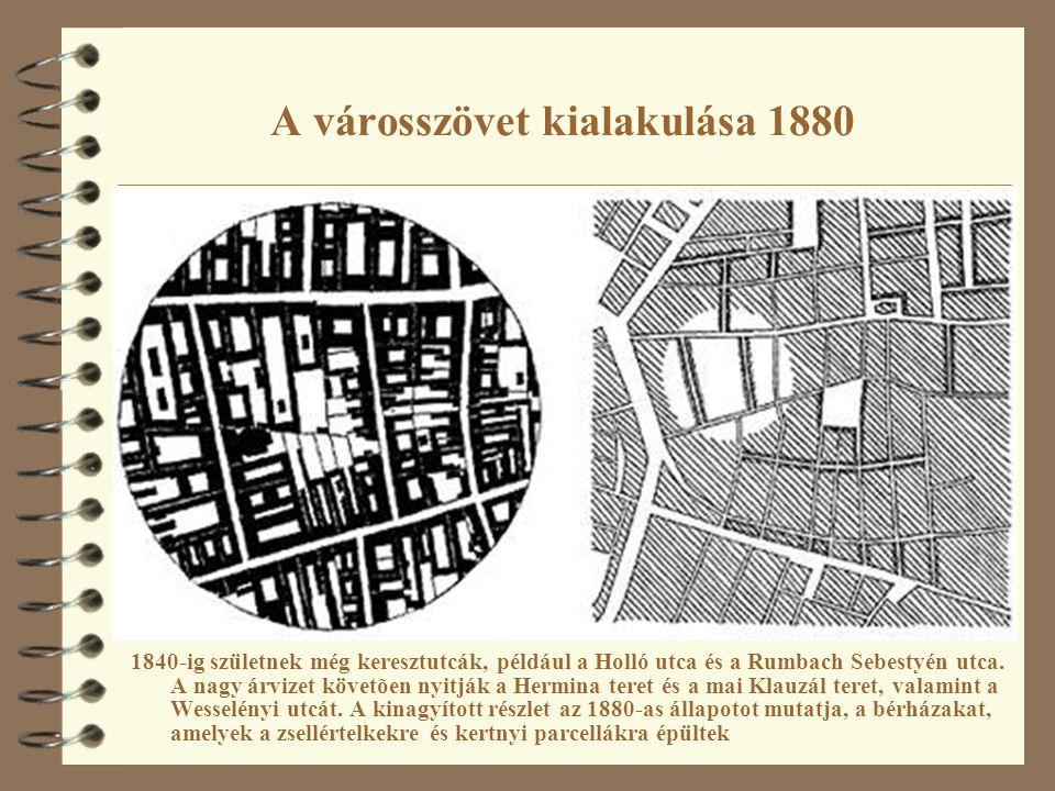 A városszövet kialakulása 1880