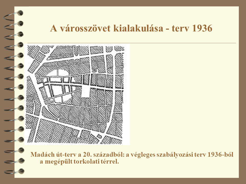 A városszövet kialakulása - terv 1936
