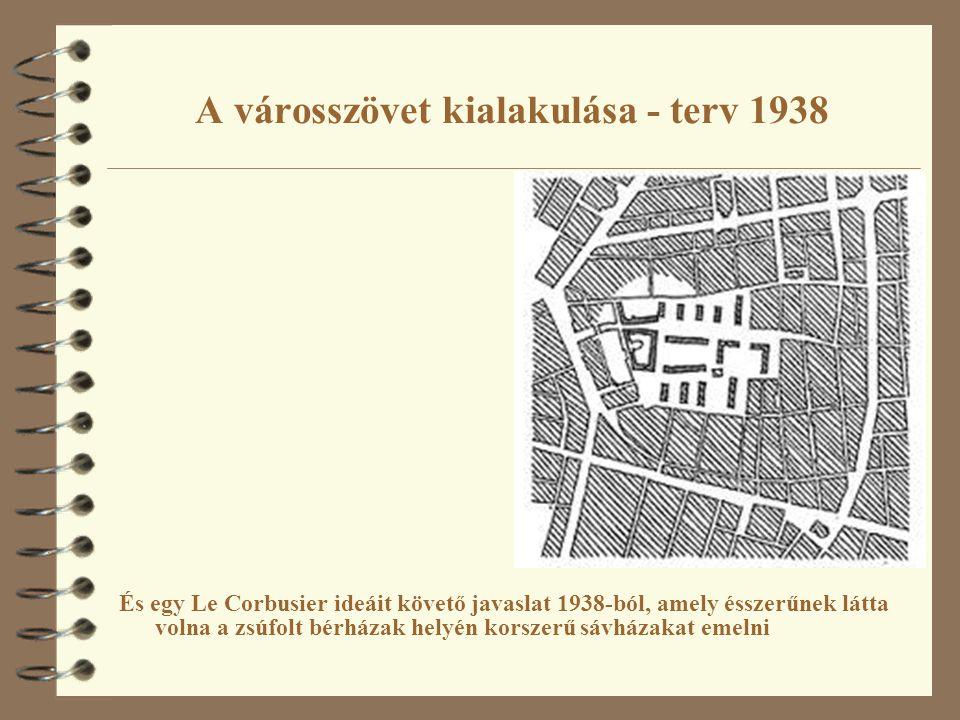 A városszövet kialakulása - terv 1938