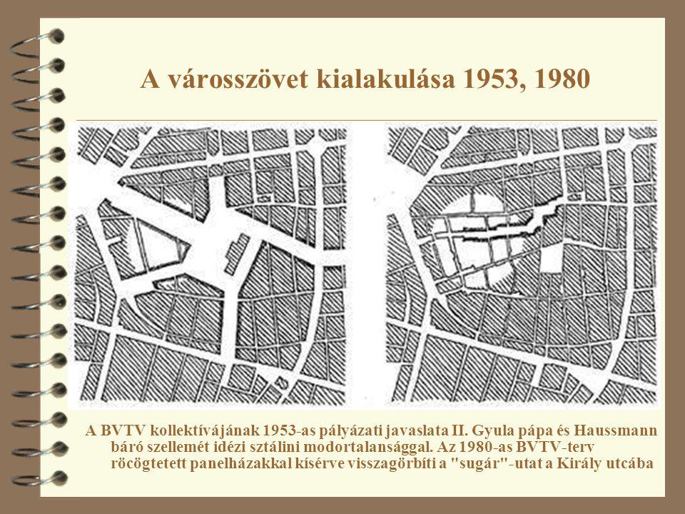 A városszövet kialakulása 1953, 1980