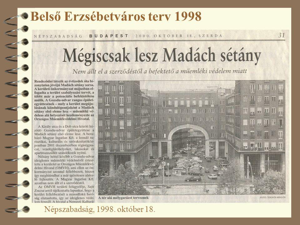 Belső Erzsébetváros terv 1998