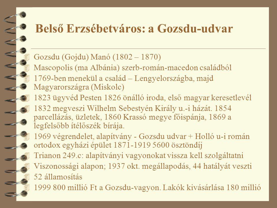 Belső Erzsébetváros: a Gozsdu-udvar