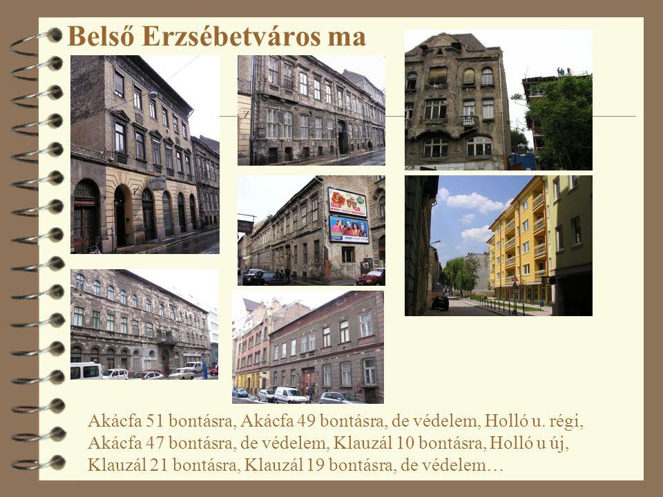 Belső Erzsébetváros ma