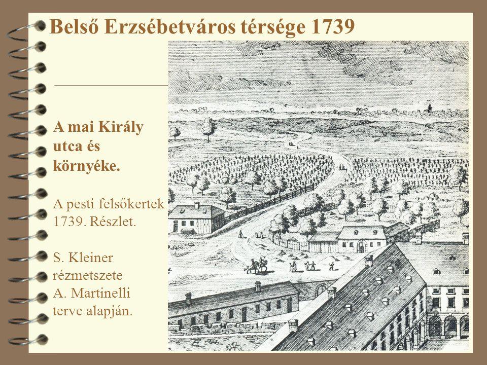 Belső Erzsébetváros térsége 1739