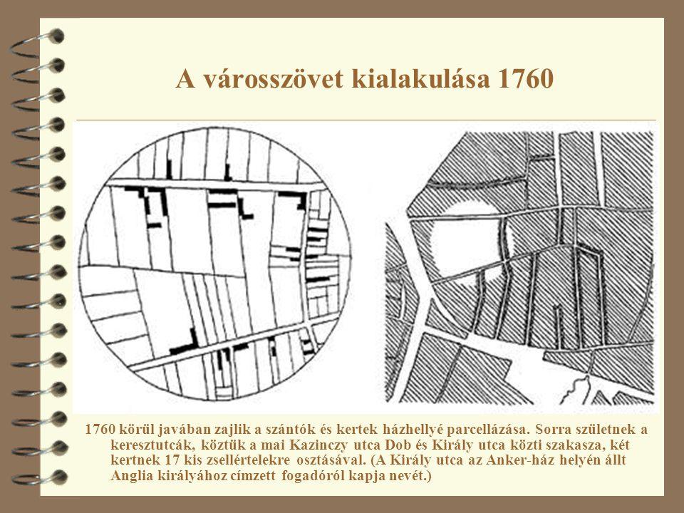 A városszövet kialakulása 1760