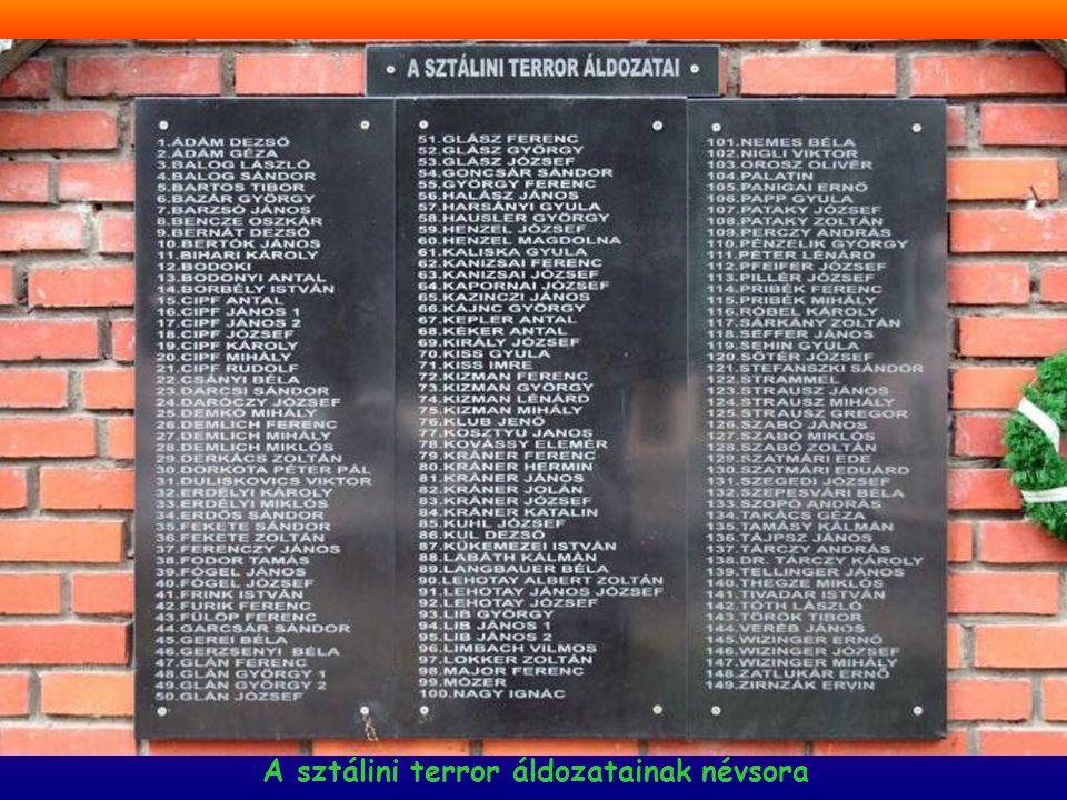 A sztálini terror áldozatainak névsora