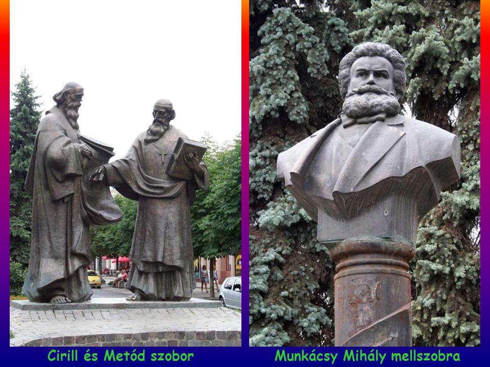 Cirill és Metód szobor Munkácsy Mihály mellszobra