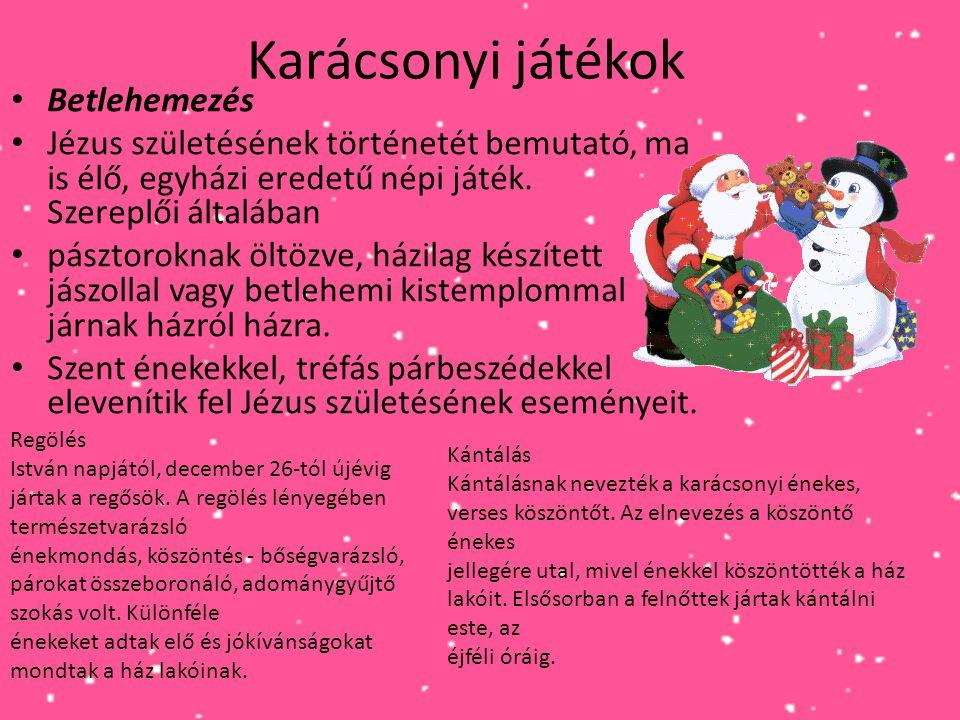 Karácsonyi játékok Betlehemezés