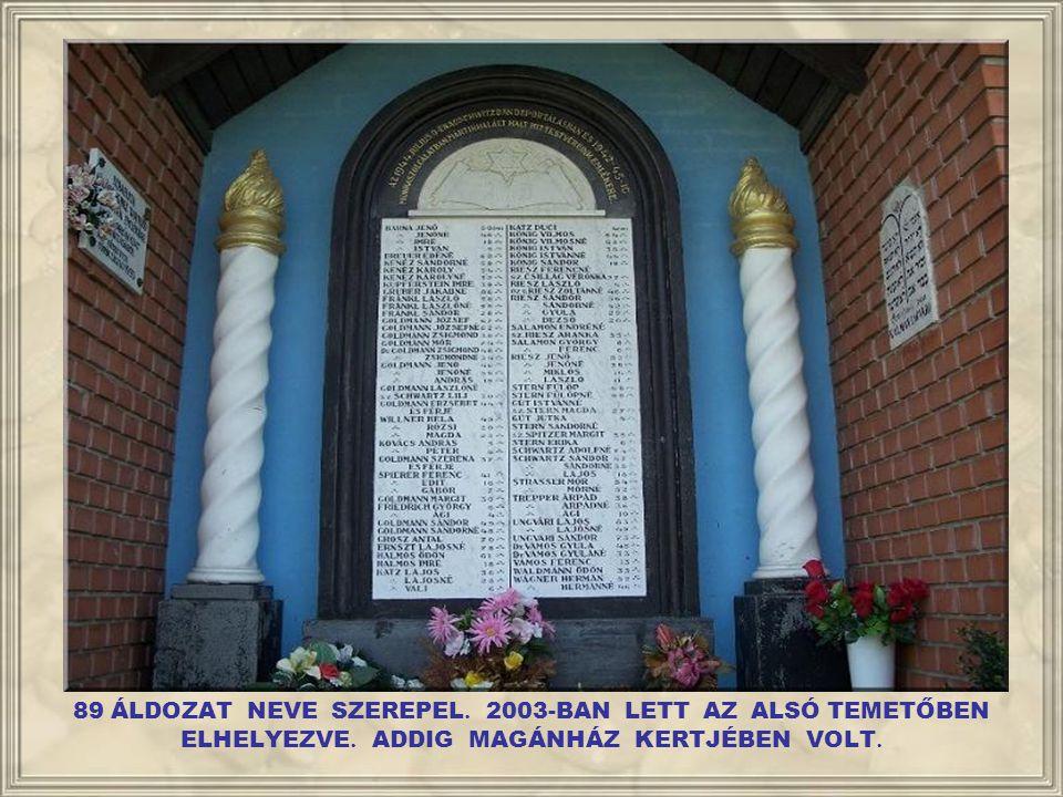 89 ÁLDOZAT NEVE SZEREPEL. 2003-BAN LETT AZ ALSÓ TEMETŐBEN ELHELYEZVE