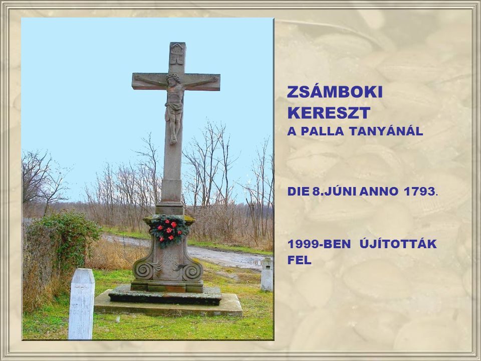 ZSÁMBOKI KERESZT A PALLA TANYÁNÁL DIE 8.JÚNI ANNO 1793.