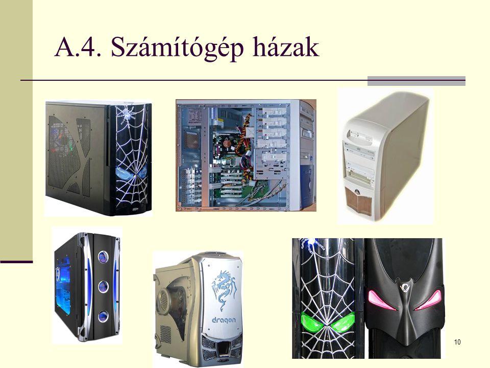 A.4. Számítógép házak