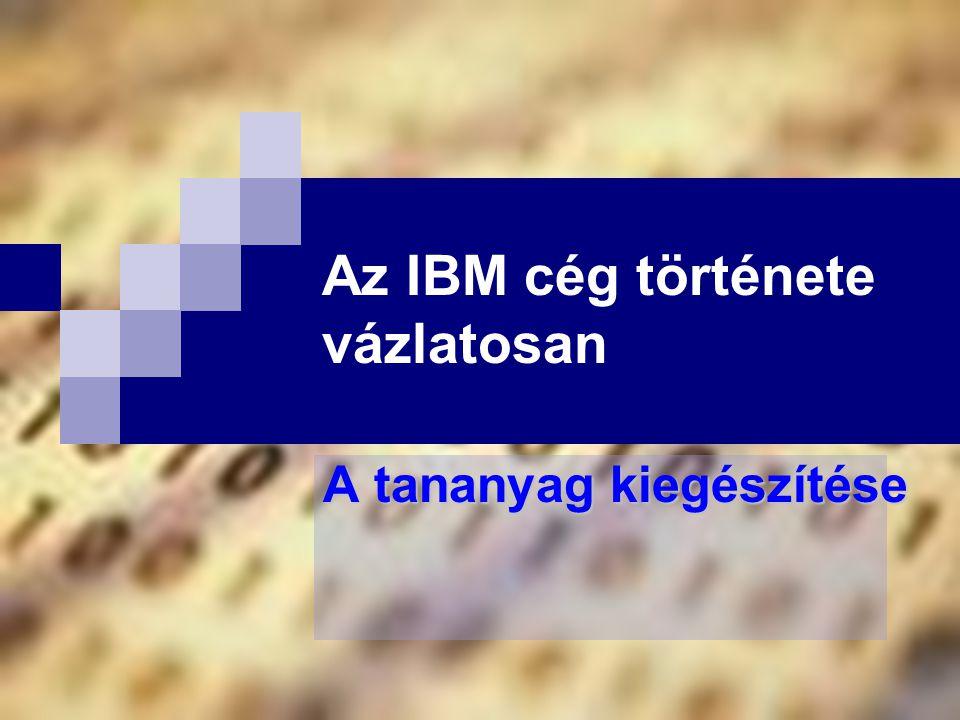 Az IBM cég története vázlatosan