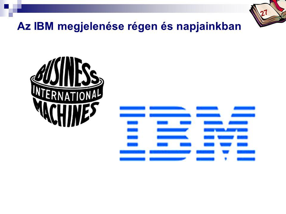 Az IBM megjelenése régen és napjainkban