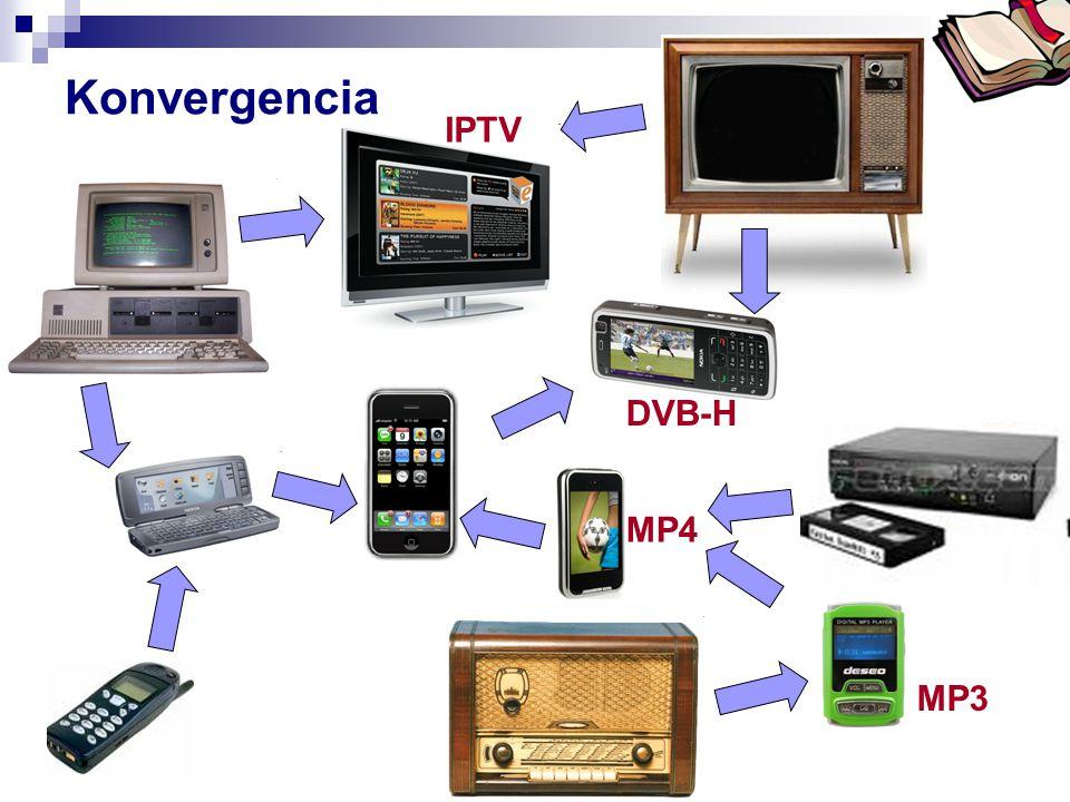 Konvergencia IPTV DVB-H MP4 MP3