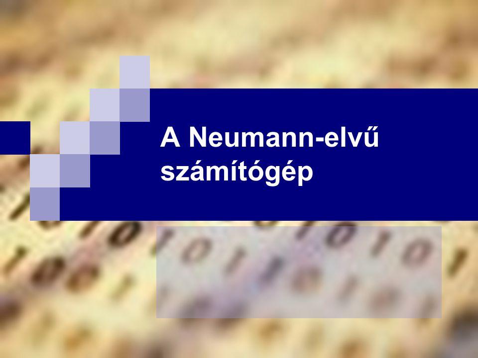 A Neumann-elvű számítógép